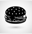 hamburger modern icon vector image
