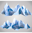 Paper mountains vector image