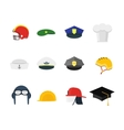 Professions Hats Set for Men vector image