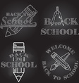 Set of Back to School retro design vector image