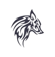Tattoo wolf animal logo for unique modern vector image