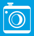 vintage photo camera icon white vector image