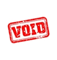 Void rubber stamp vector image