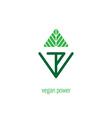 Vegan Power - lettering for labels logos badges vector image
