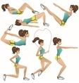 Beautiful girl making exercises vector image vector image