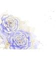 Blue roses on white background vector image