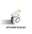Kitchen scales icon symbol vector image
