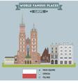 Square Krakow vector image