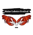 Lobster festival in America Colorful vector image
