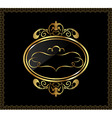 luxury gold ornament with emblem vector image