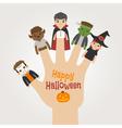 HalloweenNew2Finger monsters halloween vector image