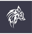 Wolf flat tattoo style logo design smoother vector image