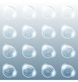 Basic set of transparent glass buttons vector image vector image