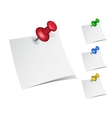 note papers with push pins vector image