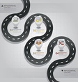 Road Street Business Infographic Design Template vector image
