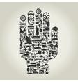 Hand transport vector image
