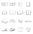 Book thin icons set vector image