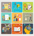 Business flat icons design concept template vector image