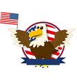 Cute cartoon American bald eagle vector image