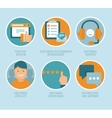 flat customer experience concepts vector image