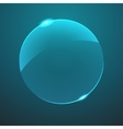 glass blue circle icon vector image