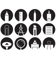 icons stationery in circles vector image