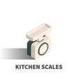 kitchen scales icon symbol vector image