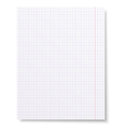 Notebook squared paper background isolated vector image