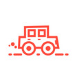 red linear car icon vector image