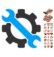 service tools icon with lovely bonus vector image