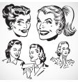 retro women talking vector image vector image