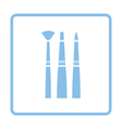 Paint brushes set icon vector image