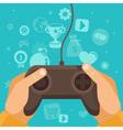 game joystick vector image