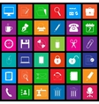 Office icon series in Metro style vector image