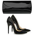 Shoes and handbag vector image