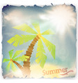 vintage grunge summer background vector image vector image