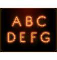 Neon Font Type Alphabet Glowing in vector image