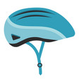 Blue bicycle helmet isolated on a white background vector image