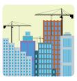 Buildings construction vector image