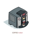 coffee machine isometric vector image