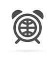 earth alarm clock icon vector image