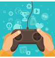 game joystick vector image