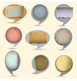 Old paper bubbles for speech vector image