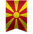 Ribbon banner - macedonian flag vector image