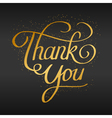 thank you hand lettering hand drawn text vector image