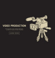 video production design with isolated video camera vector image