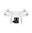 White quadcopter vector image