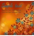 Autumn flowers with red and yellow flare lights vector image