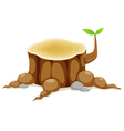 Tree stump vector image vector image