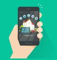 smart home wireless control technology via vector image